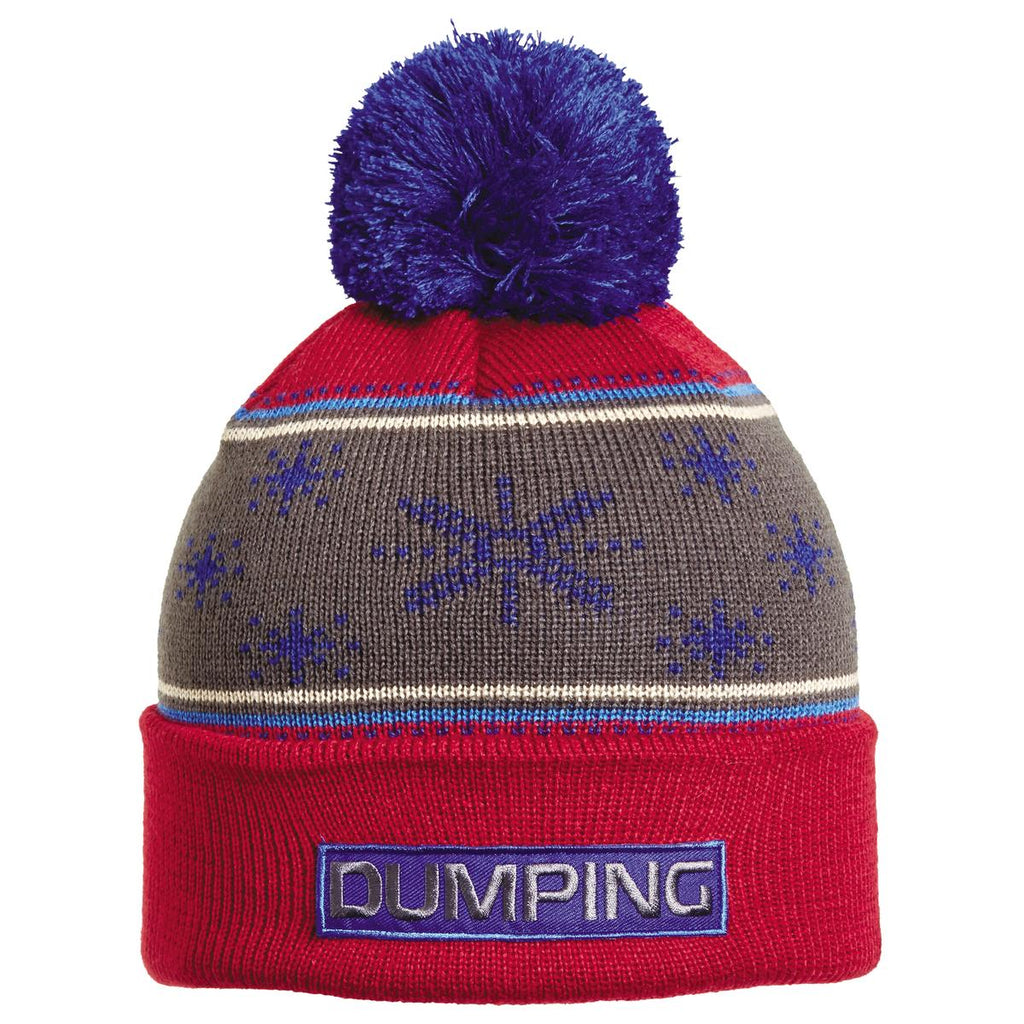Dumping Pom Beanie / Color - Red
