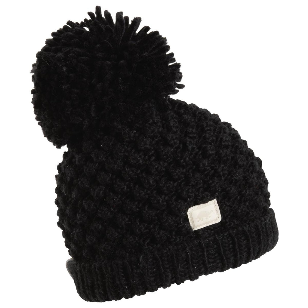 Pop Up Pom Beanie / Color-Black