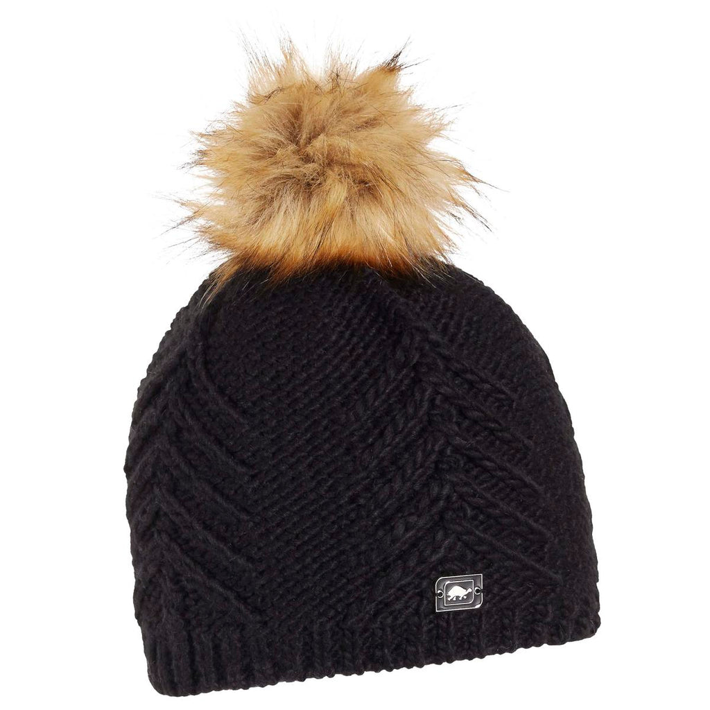 Tahoe Faux Fur Pom / Color-Black