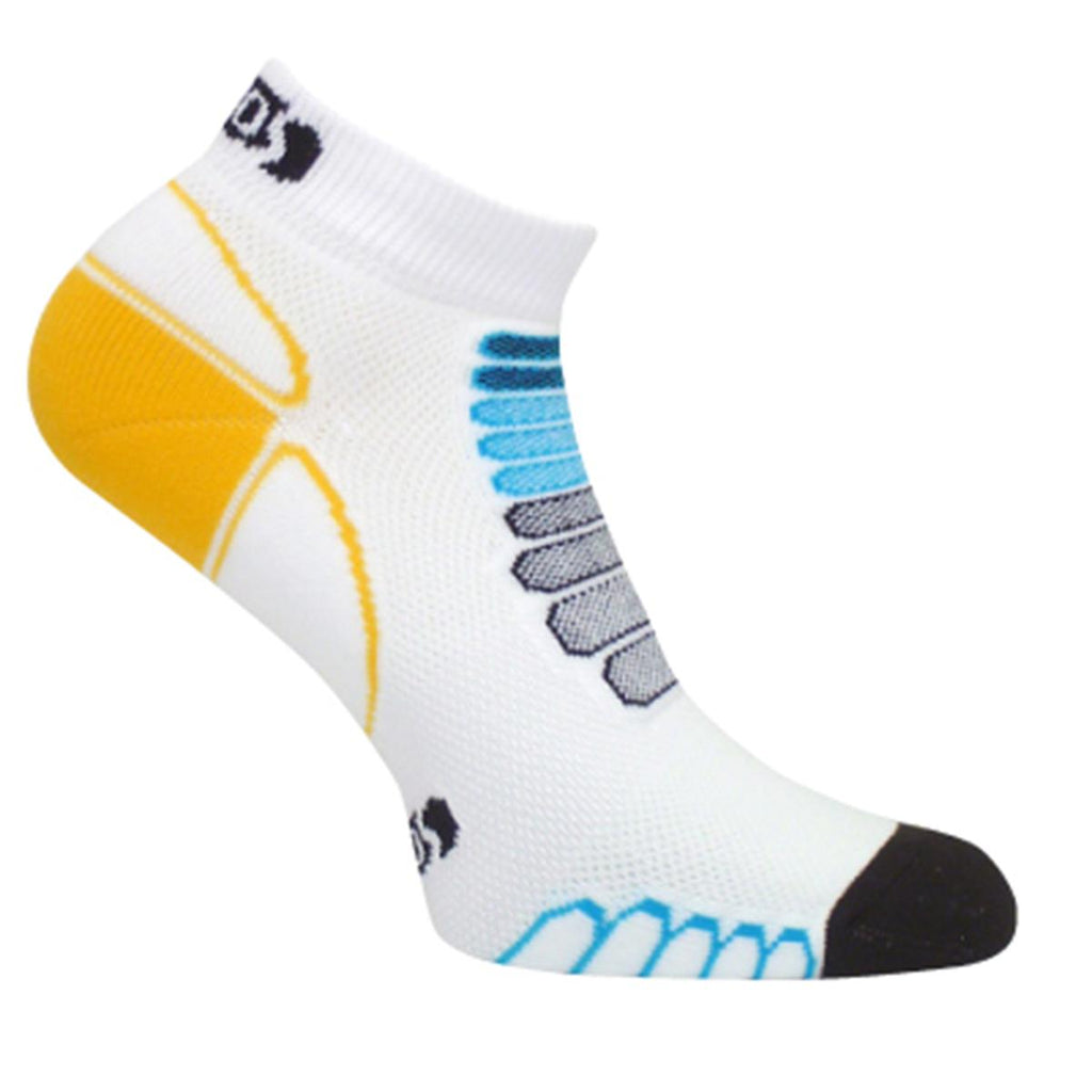 Ultra Lightweight Sprint Silver Low-Cut Ankle Sock / Color-White
