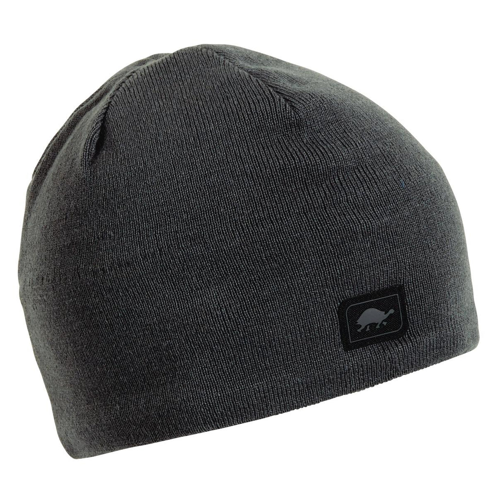 Solid Knit Merino Wool Beanie / Color-Graphite