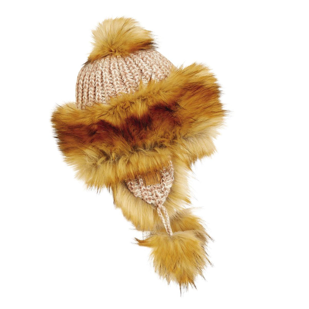 Nepal Manaslu Earflap Beanie / Color-Brown