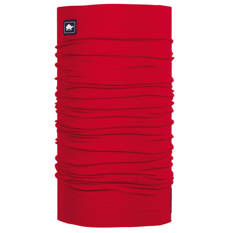 Lightweight Totally Tubular Headwear, Solid Colors / Color-Red