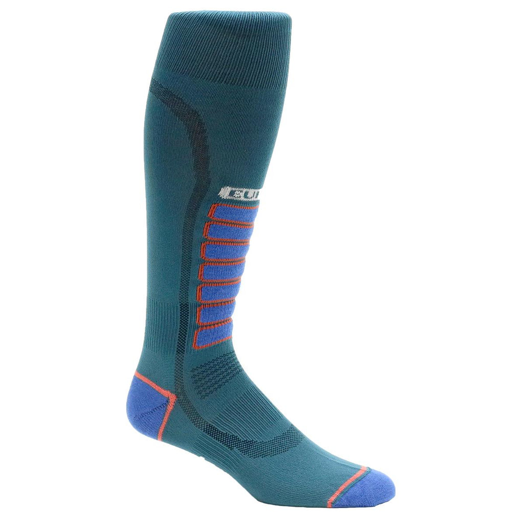 Ultra Lightweight Silver Ski Light OTC Sock / Color-Teal