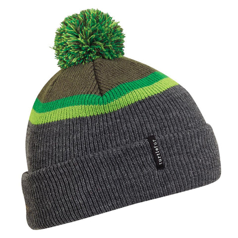 Kids Charles Pom Beanie / Color-Charcoal