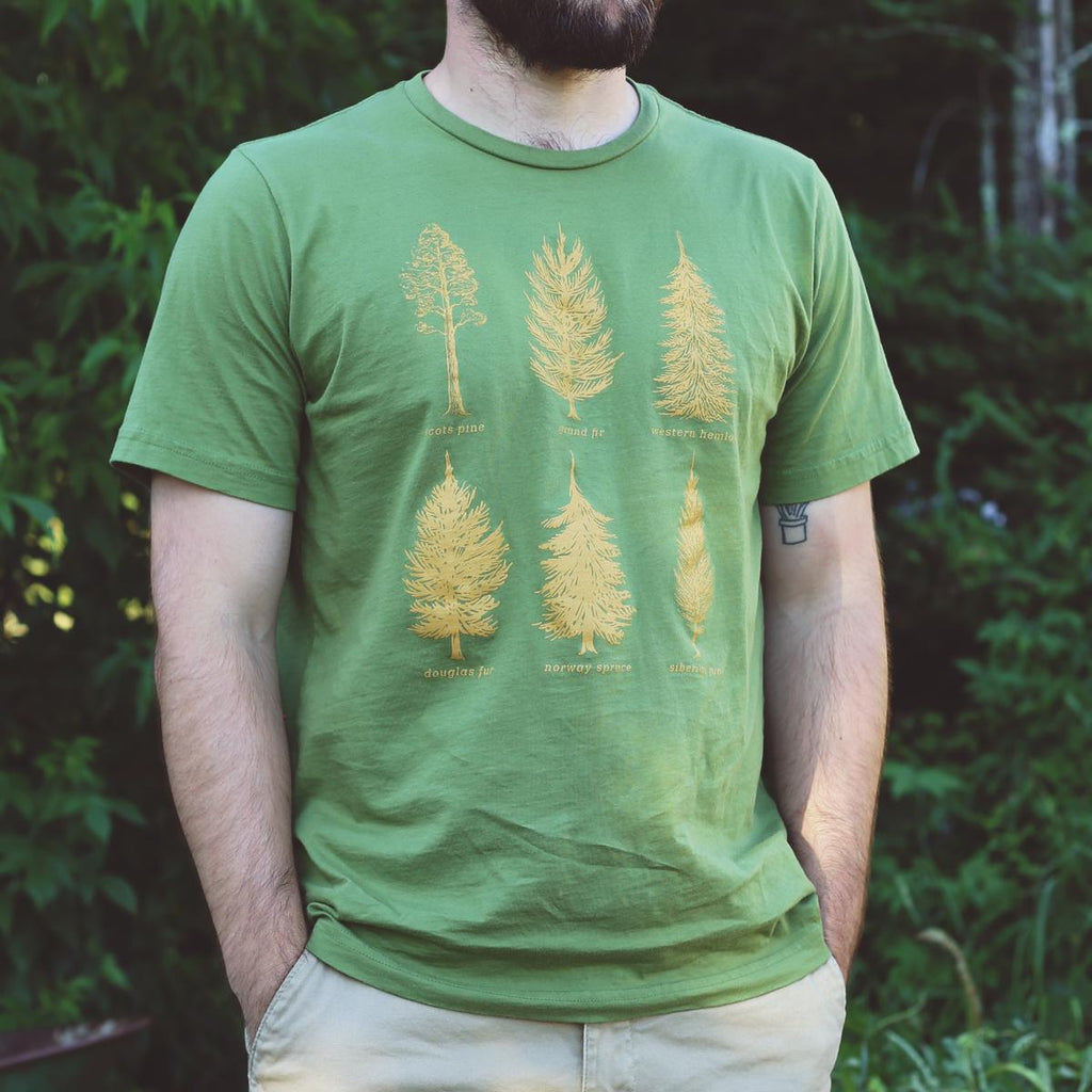 Men's Pine-ing Fir Attention T-Shirt / Color-Olive