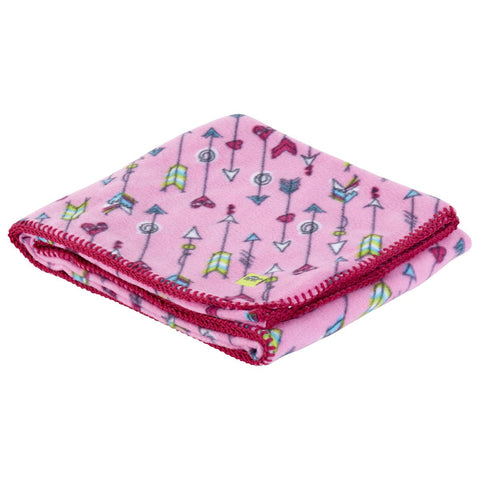 Kids Fleece Camping Blanket / Color - Pink Arrows