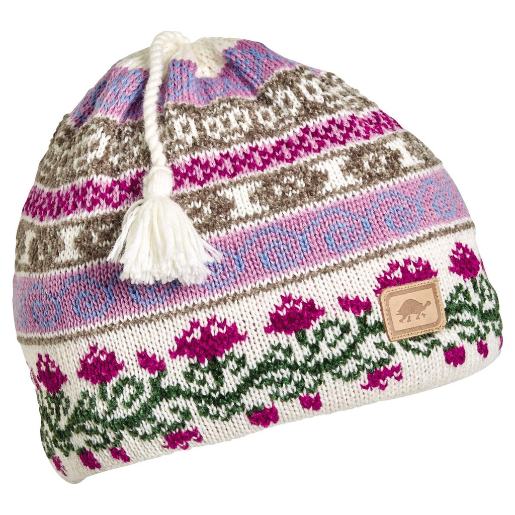 Lady Fairisle Tassel Beanie / Color-Pink
