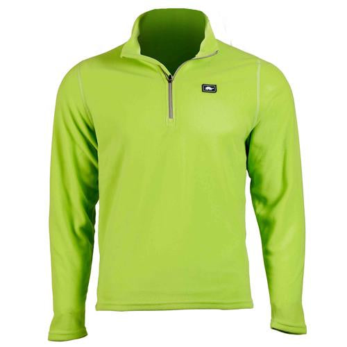 Men's Micro Fur Fleece Carapace 1/4 Zip / Color-Limelight