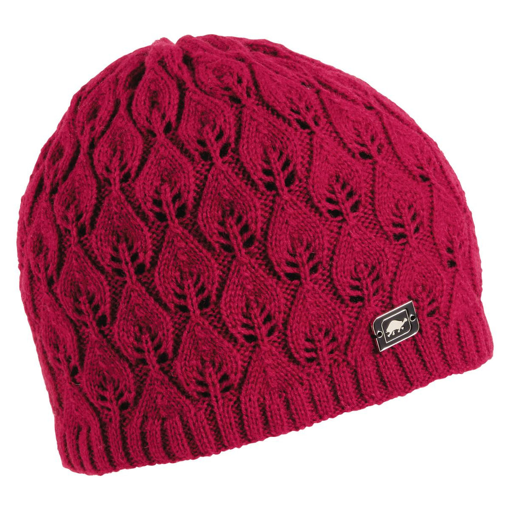 Aspen Knit Beanie / Color-Cherry