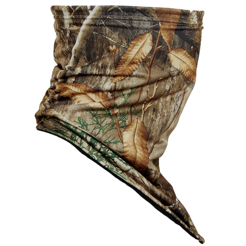 Hunting Bandana Face Shield Lined With Fleece / Color-RealTree Edge