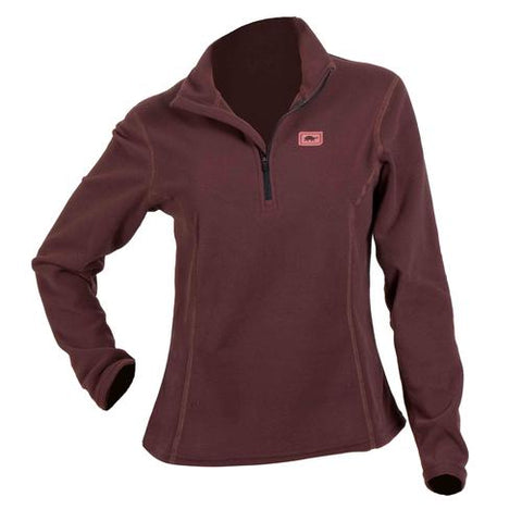 Women's Micro Fur Fleece Kira 1/4 Zip / Color-Fig