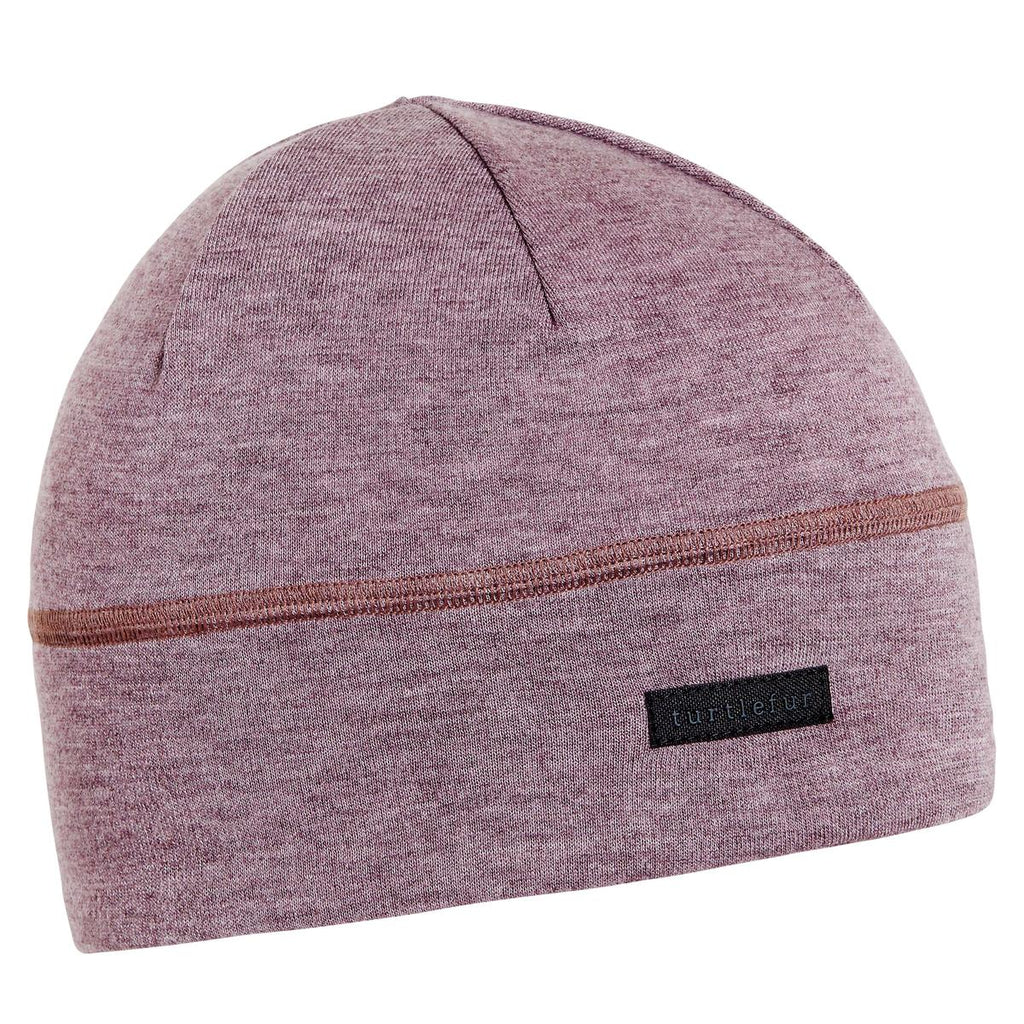 Merino Wool with Tencel Beanie / Color-Thistle