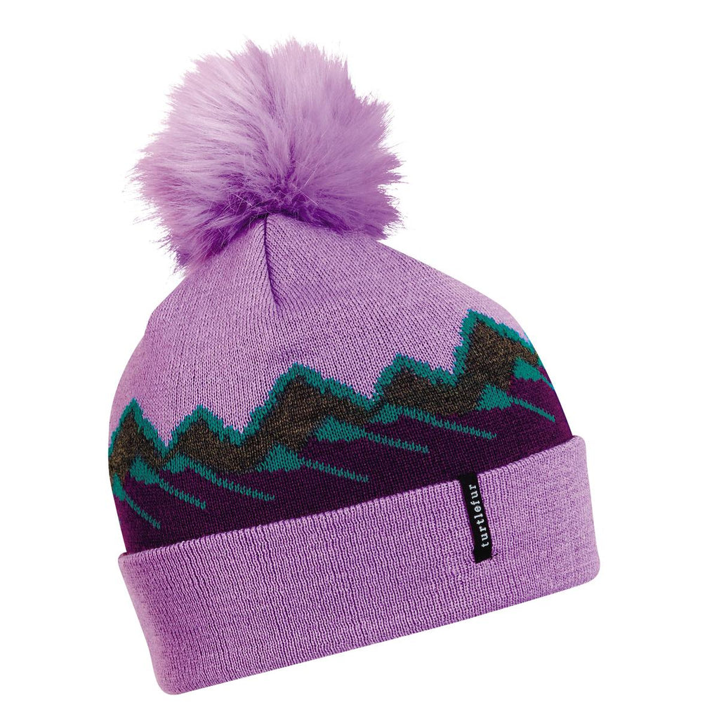 Ridgeline Pom Beanie / Color-Purple