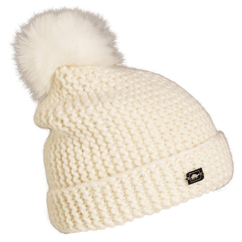 Saulire Pom Beanie / Color-Natural