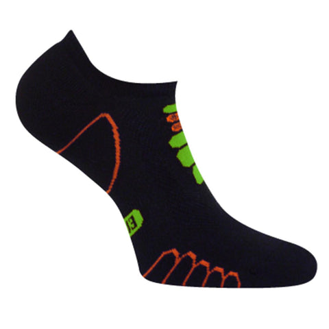 Lightweight Sprint Silver Ghost Low Cut Sock / Color-Orange