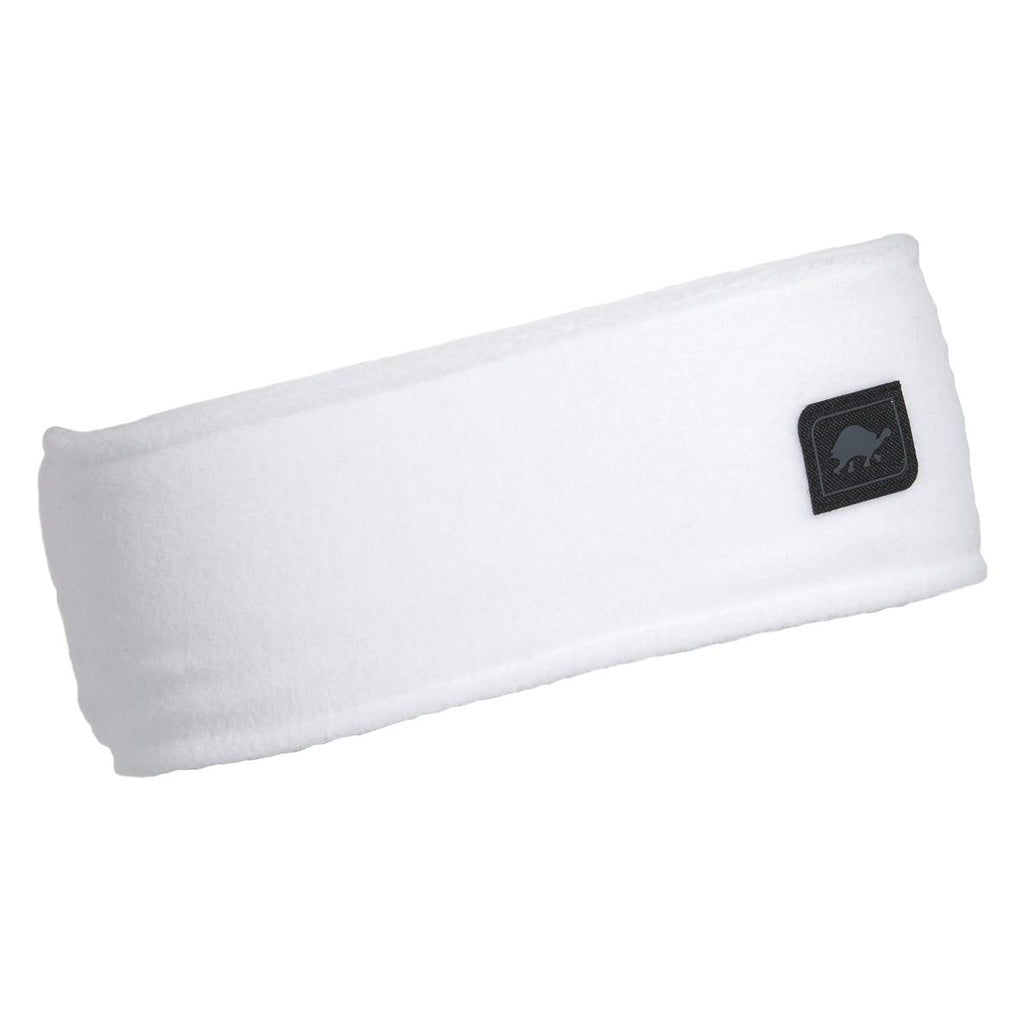 Micro Fur Fleece Headband / Color-White