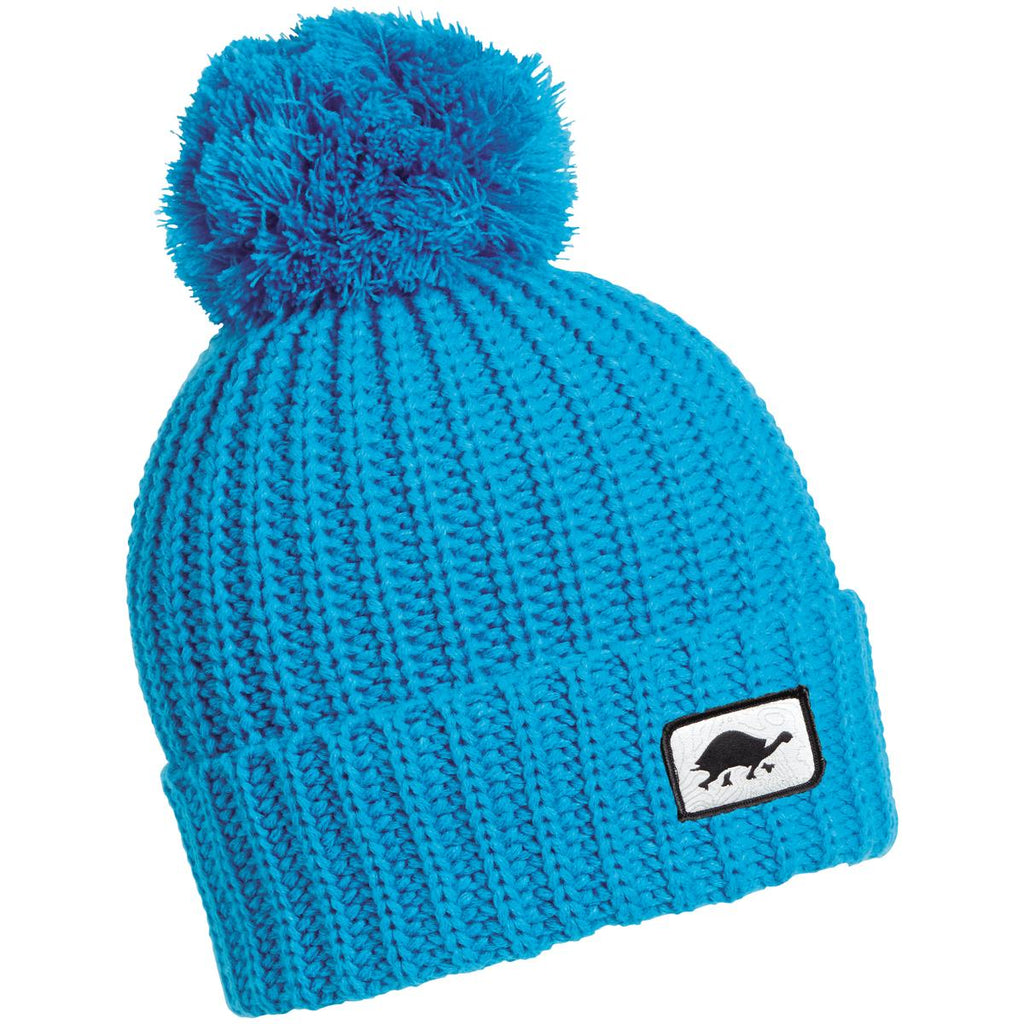 Prime Hand Knit Pom Beanie / Color - Blue