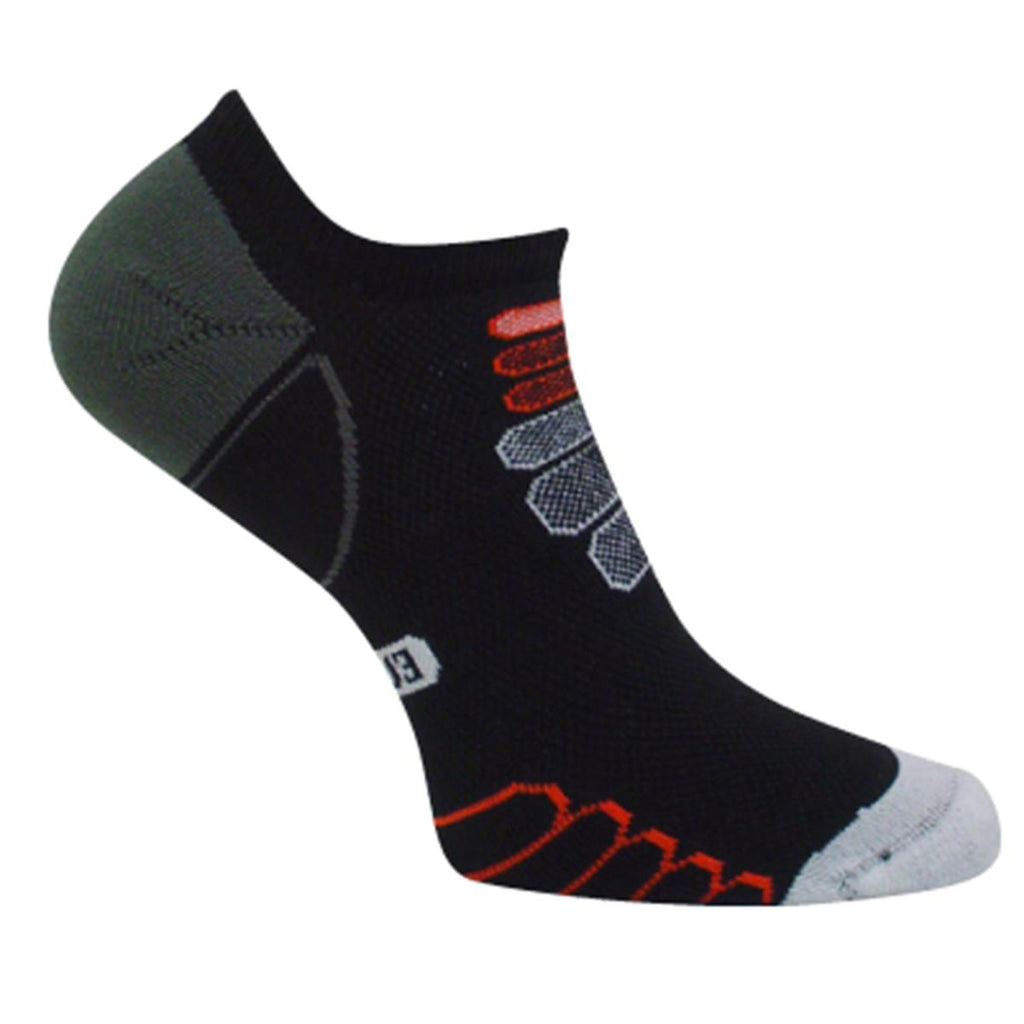 Ultra Lightweight Sprint Silver Ghost Low Cut Sock / Color-Black