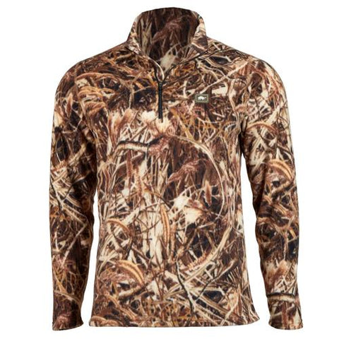 Men's Classic Fleece Carapace Camo 1/4 Zip / Color-Marsh Camo