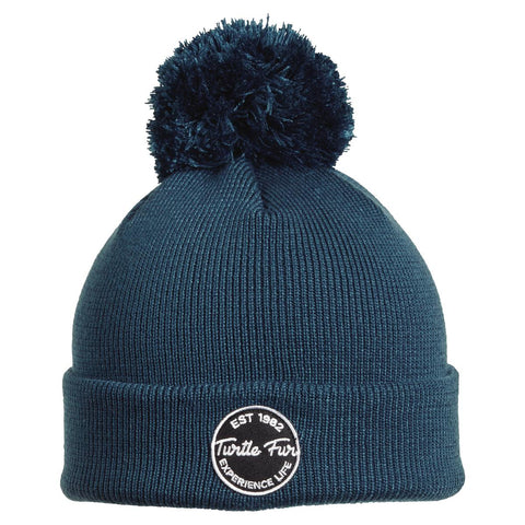 Winds of Change Pom Beanie / Color-Blue