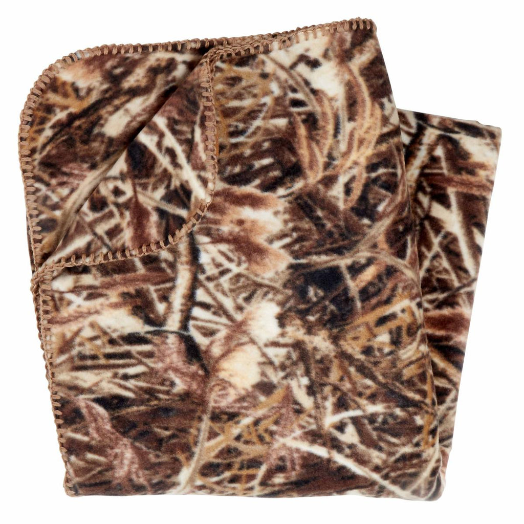 Classic Fleece Camping Blanket / Color-Marsh Camo