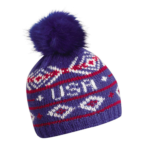 Homeland Pom Beanie / Color-Navy