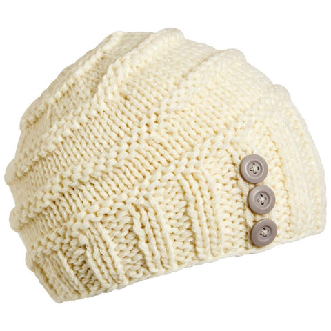 Adelaide Knit Beanie / Color-White