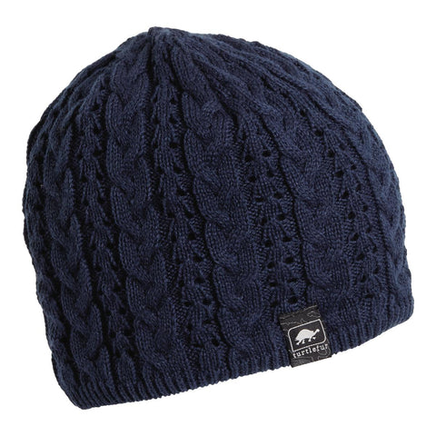 Zelda Knit Beanie / Color-Navy