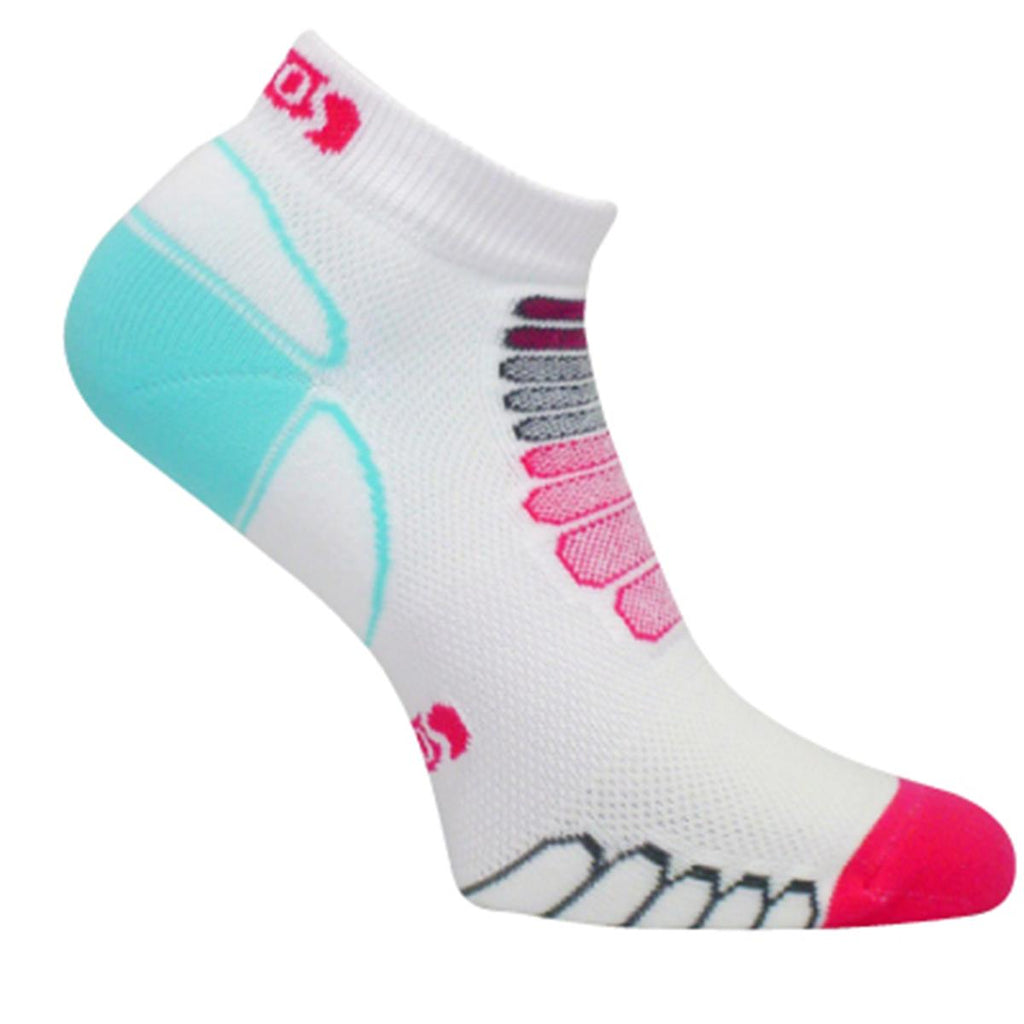 Ultra Lightweight Sprint Silver Low-Cut Ankle Sock / Color-Pink