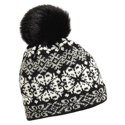 Banff Faux Fur Pom / Color-Black