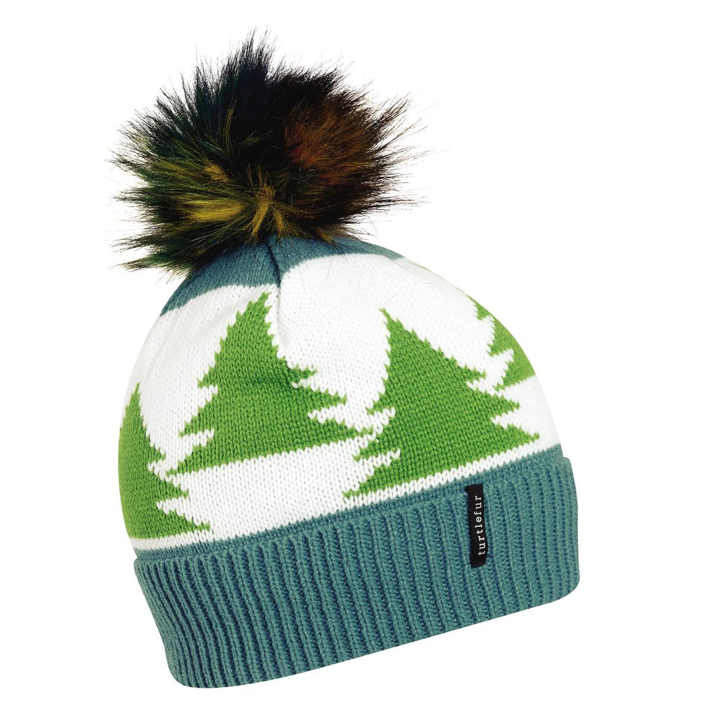 Forestry Pom Beanie / Color-Teal