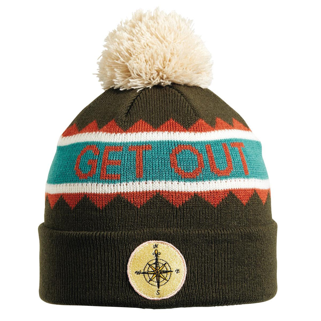 Get Out Pom Beanie / Color-Green