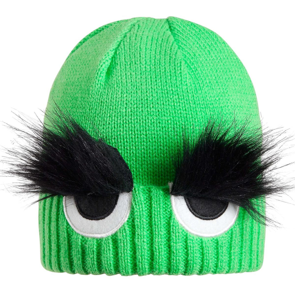 Toddler Bushy Eyebrow Beanie / Color-Green