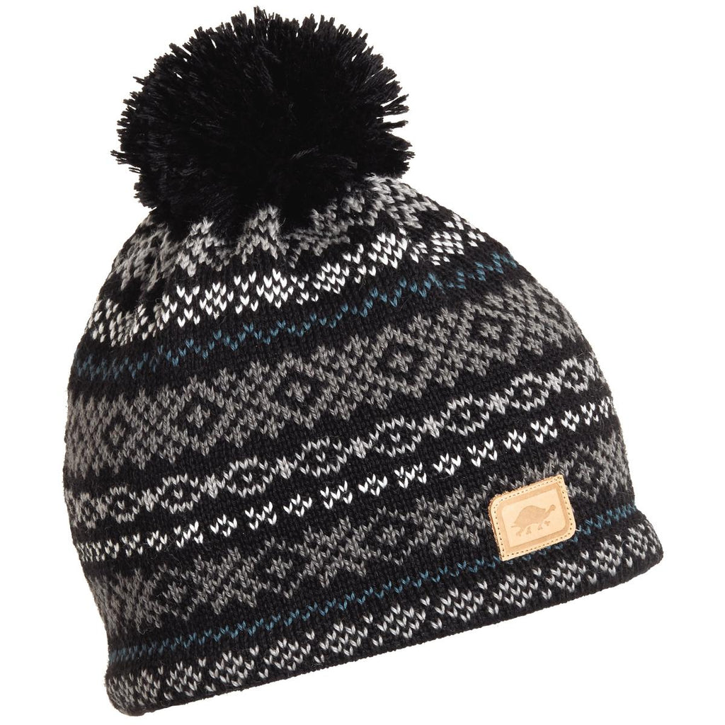 Whirlaway Pom Beanie / Color-Black
