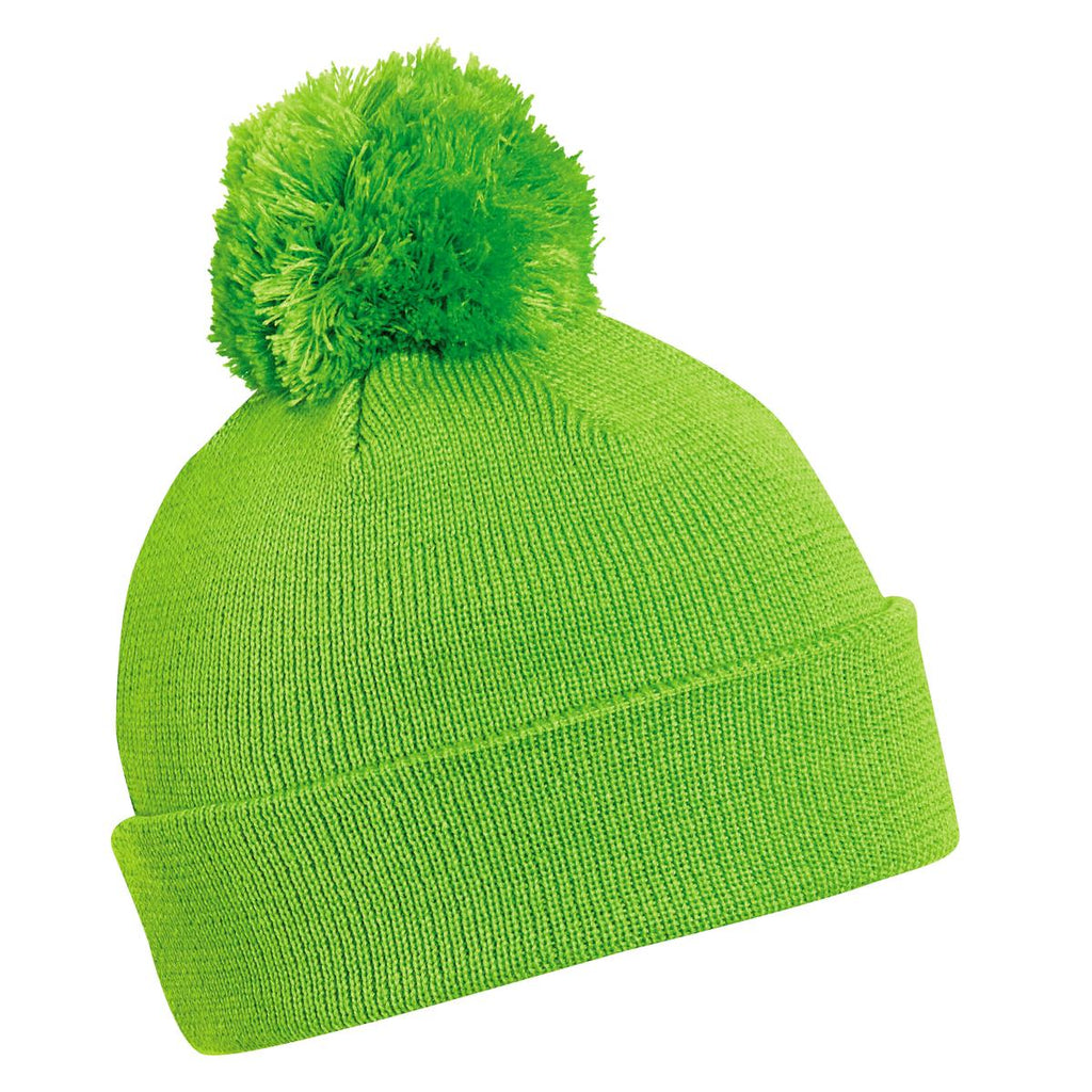 Hilltop Pom Beanie / Color-Lime