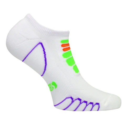 Lightweight Sprint Silver Ghost Low Cut Sock / Color-Green