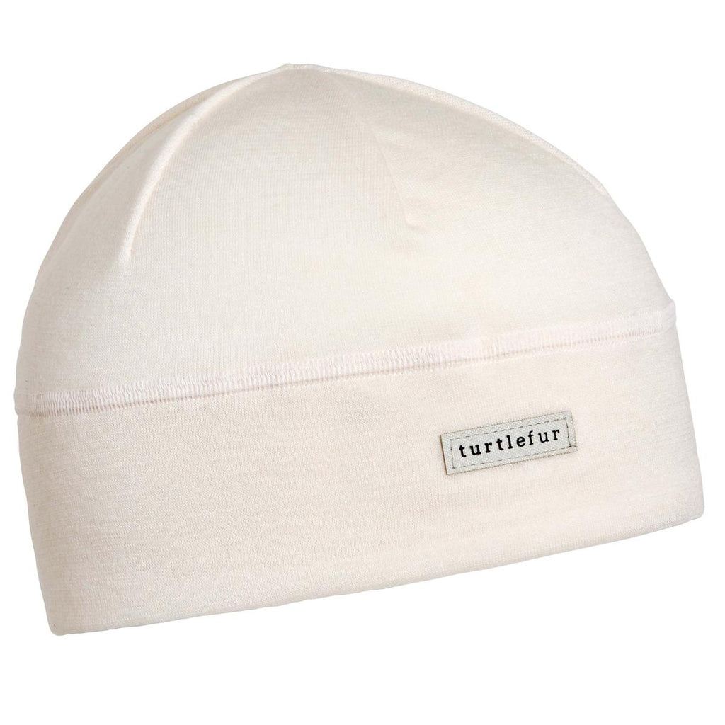 Merino Wool with Tencel Beanie / Color-Ivory