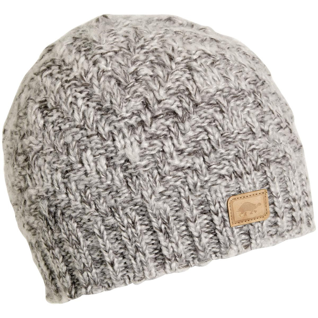 Pyramid Steps Knit Beanie / Color - Silver