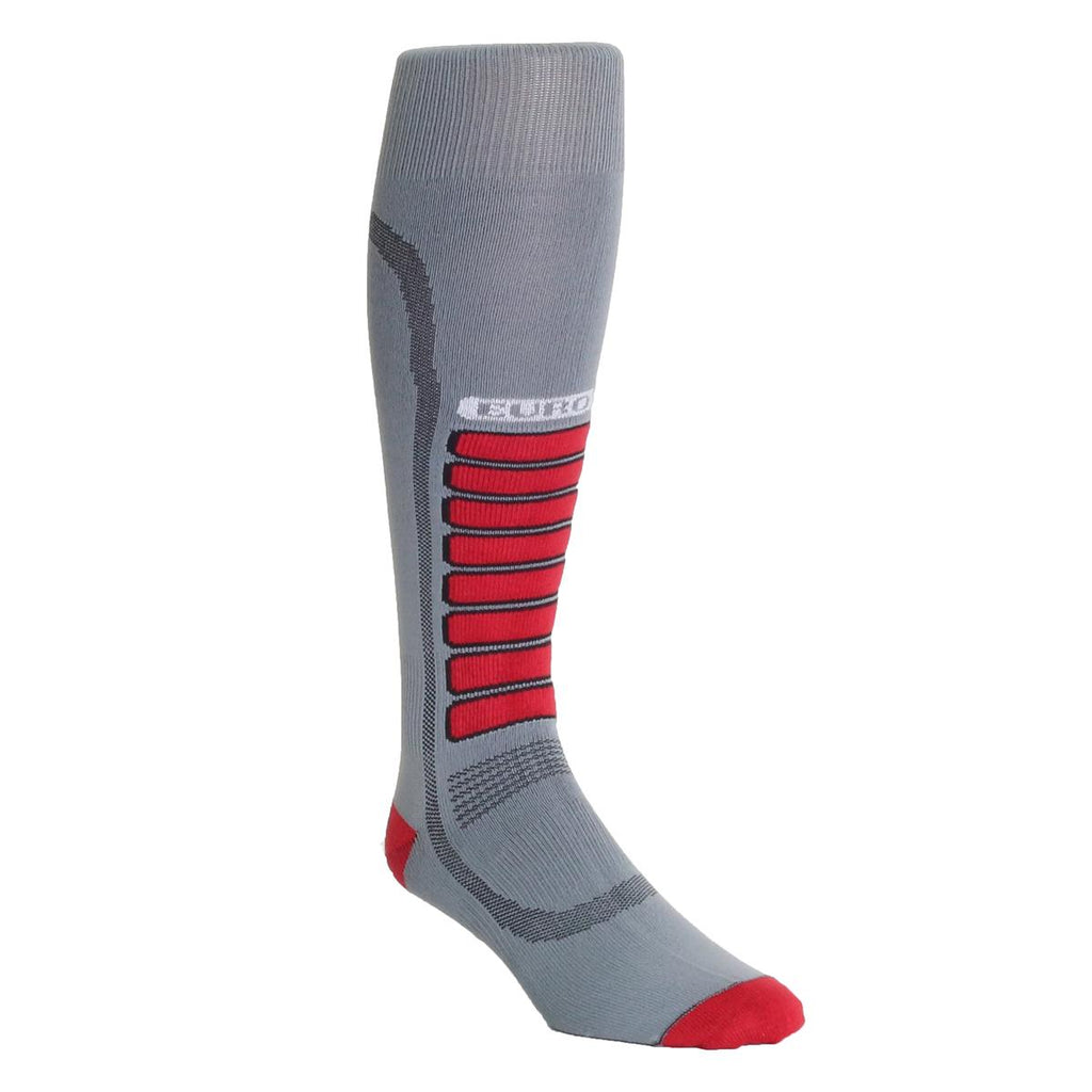 Ultra Lightweight Silver Ski Light OTC Sock / Color-Grey