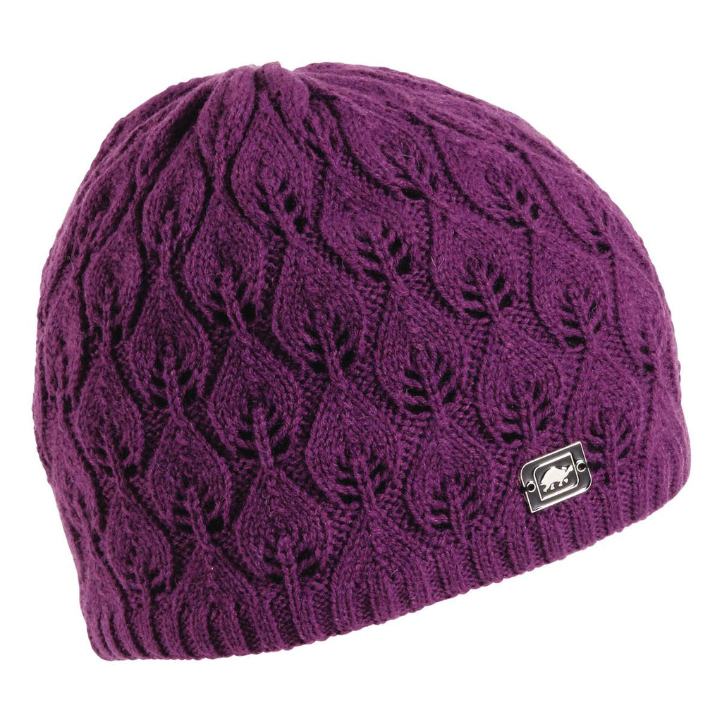 Aspen Knit Beanie / Color-Plum