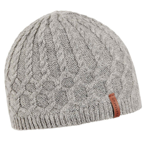Leah Lambswool Beanie / Color-Smoke