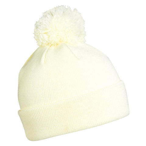 Hilltop Pom Beanie / Color-White