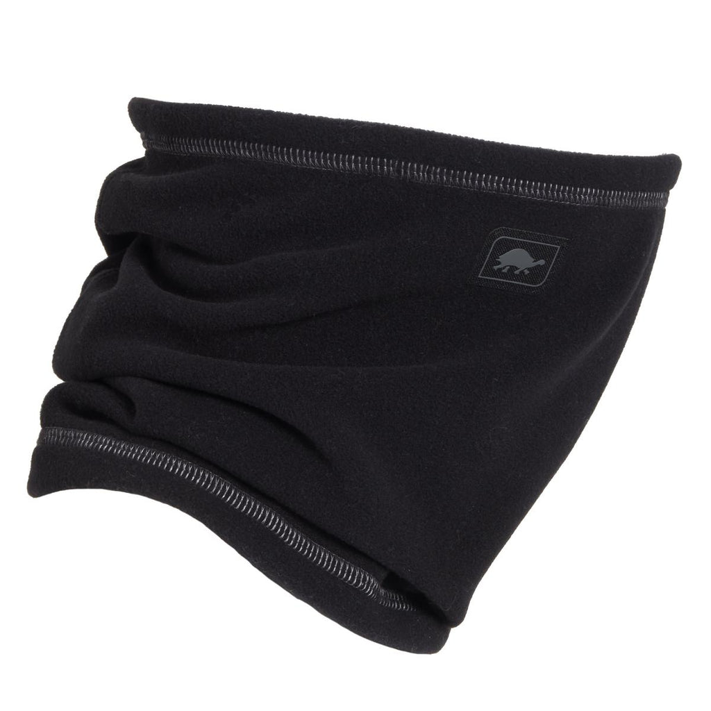 Micro Fur Fleece Single-Layer Neck Warmer / Color-Black