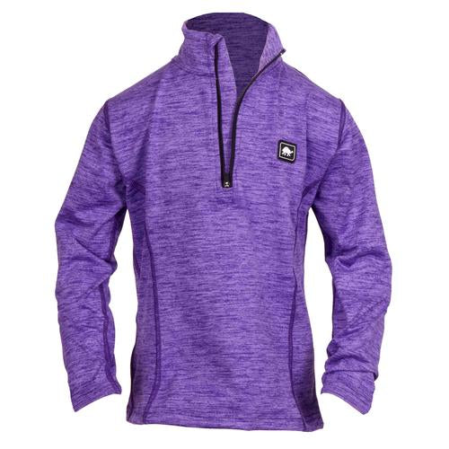 Girls Comfort Shell Stria Kira High Energy 1/4 Zip / Color-Amethyst