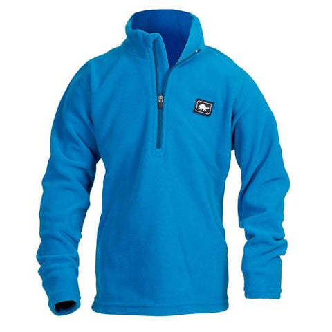 Boys Micro Fur Fleece Carapace 1/4 Zip / Color-Blues for Breakfast