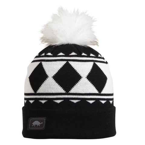 Diamonds Pom Beanie / Color-Black