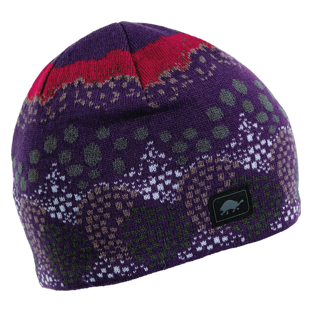Topiary Knit Beanie / Color-Eggplant