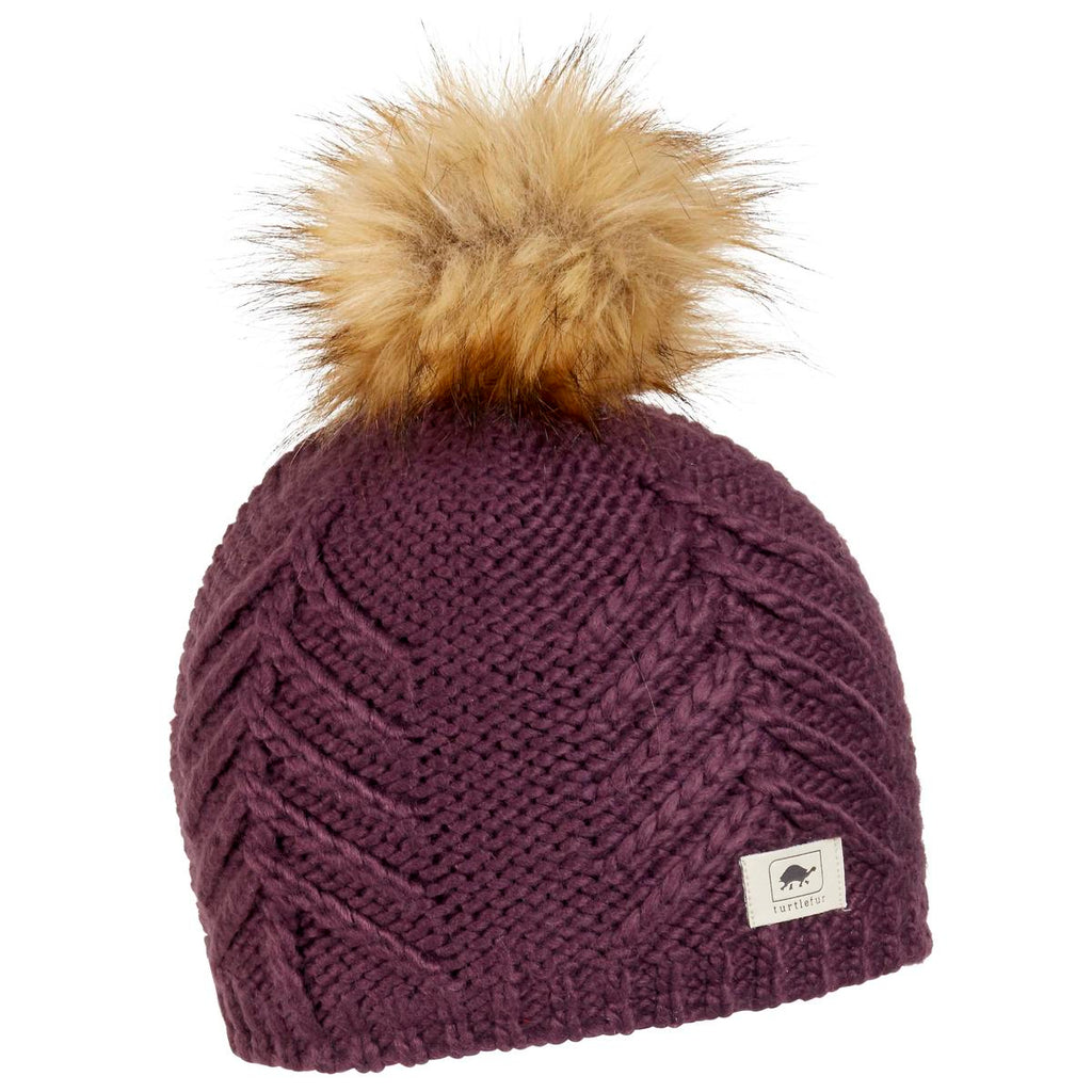 Tahoe Faux Fur Pom / Color-Mulberry