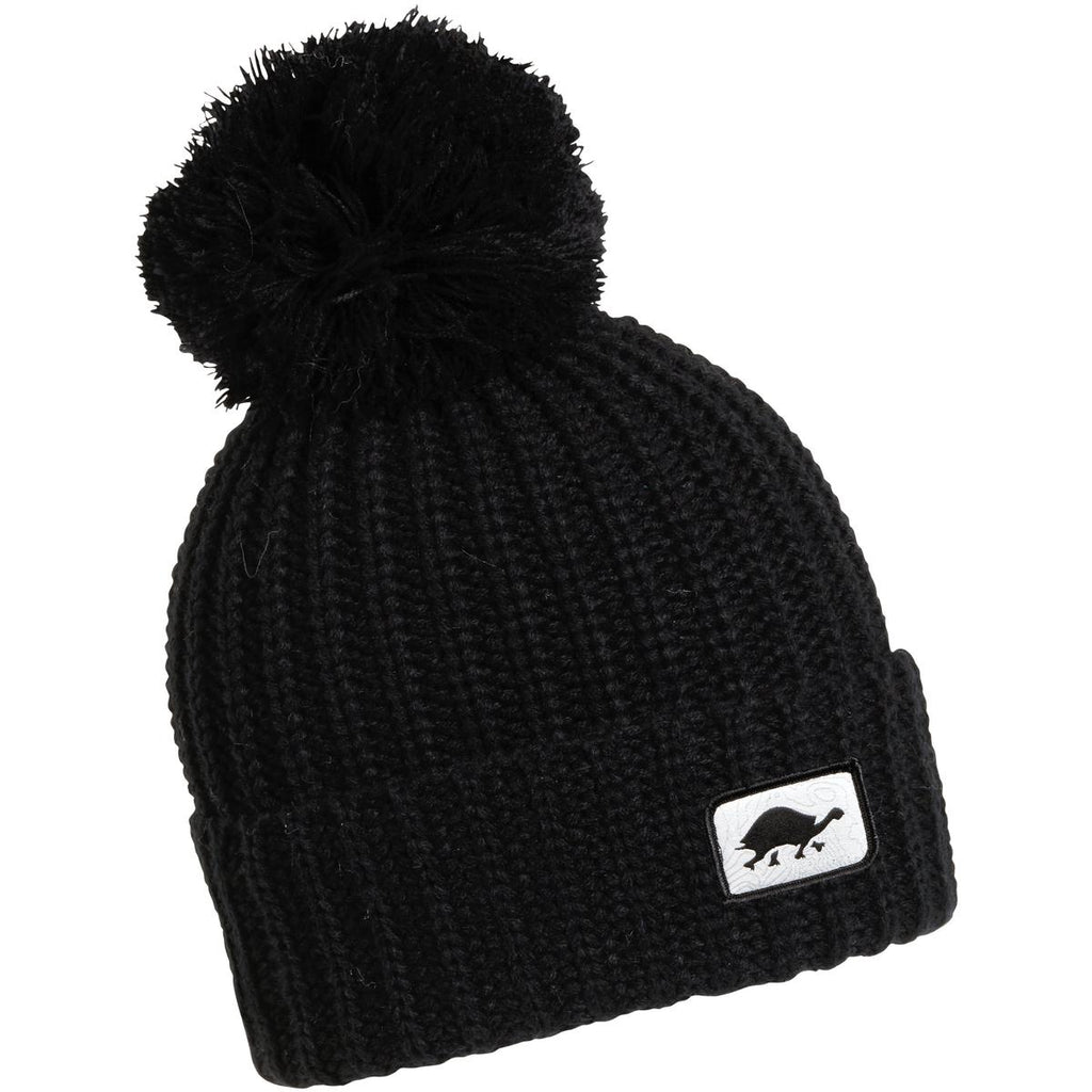 Prime Hand Knit Pom Beanie / Color - Black